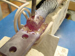 Brazing Heavy Copper Cable to Buss