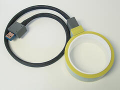 Shrink fit coil with leads