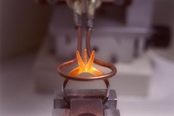Induction Soldering Platinum Ring